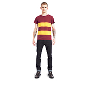 Placed Stripe T-Shirt