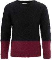 Unisex Colour Block Mohair Jumper
