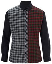 Mens Tartan Panel Shirt