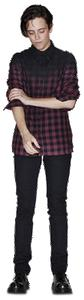 Mens Resin Gingham Shirt