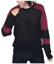 UNISEX BLOCKED SHOULDER JUMPER