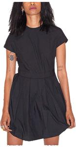 WOMEN'S POPLIN PLEATED DRESS