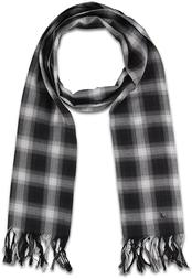 SHADOW CHECK COTTON SCARF