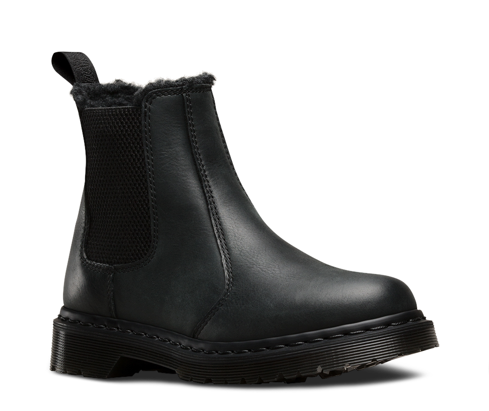 dr martens rugged leonore boots with faux fur lining new. Black Bedroom Furniture Sets. Home Design Ideas