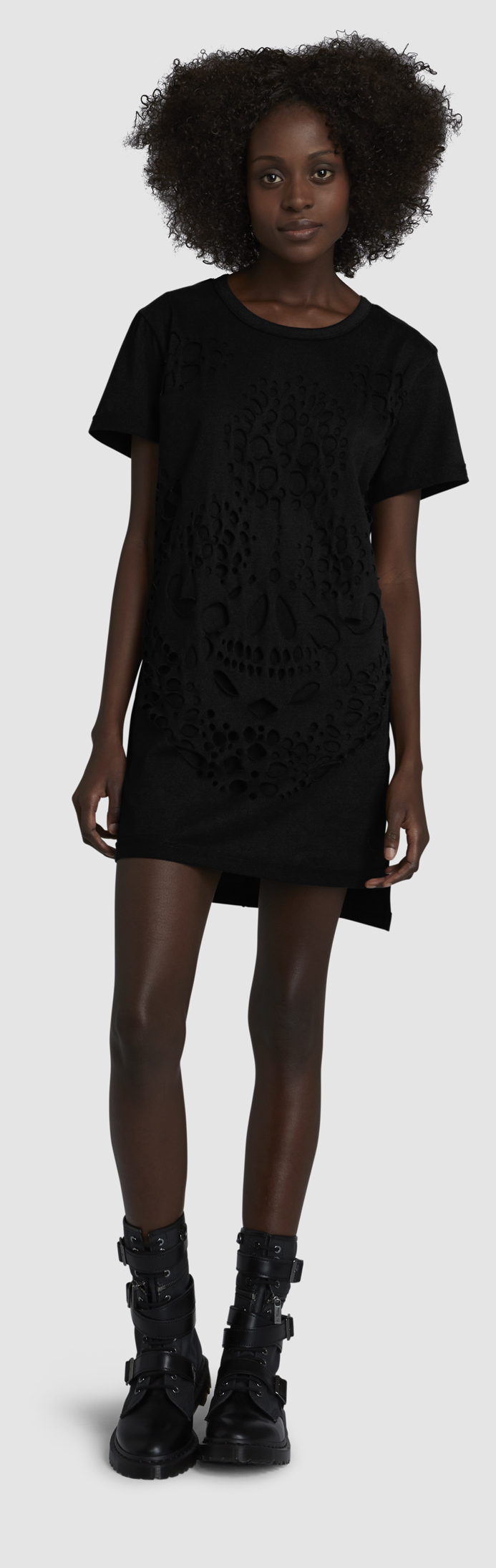 WOMENS SKULLS T-SHIRT DRESS