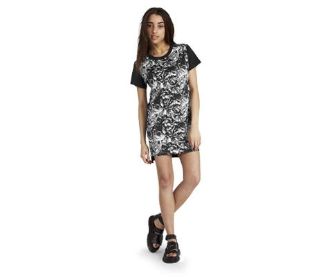 WOMENS SKULLS & ROSES T-SHIRT DRESS