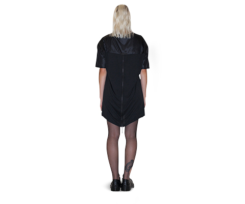 Womens  Zip Back T-Shirt Dress