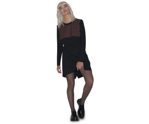 Womens LS T-Shirt Dress