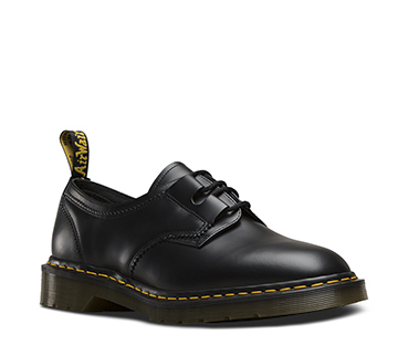 Black Smooth Engineered Garments Shoe