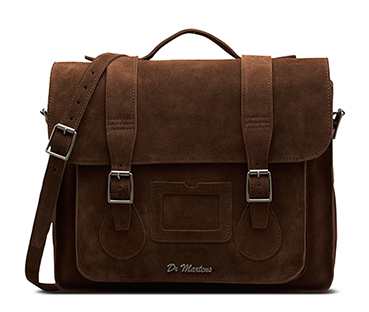 "15"" Leather satchel BROWN AB004201"