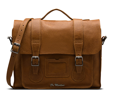 "15"" Leather satchel TAN AB004222"