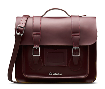 "15"" Leather satchel CHERRY RED AB004613"