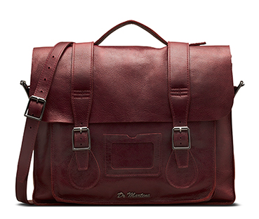 "15"" Leather satchel WINE AB004618"