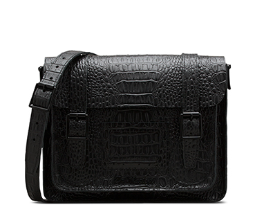 Croc Leather Satchel