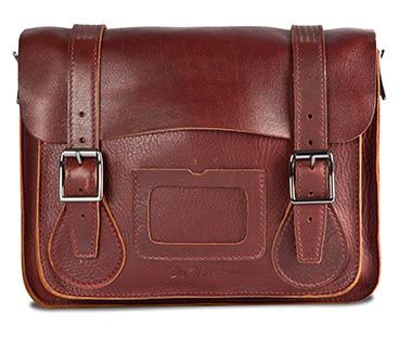 "11"" Leather satchel OXBLOOD AB005612"