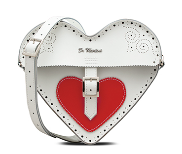 Heart leather satchel