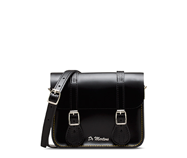 "7"" Leather Satchel BLACK AB017006"