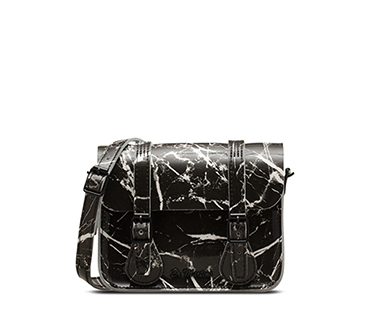 "7"" Leather Satchel BLACK AB017009"