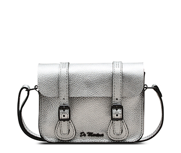metallic Leather Satchel