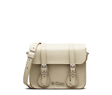 "7"" Leather Satchel OFF WHITE AB017110"