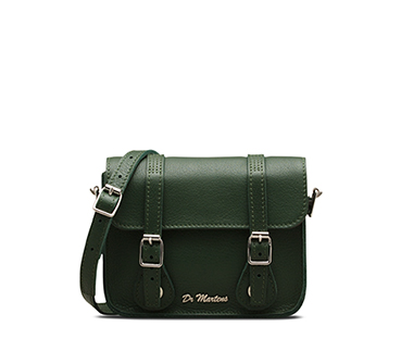 "7"" Leather Satchel GREEN AB017311"