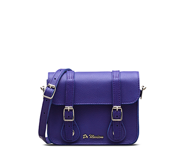 "7"" Leather Satchel BLUEBERRY AB017420"