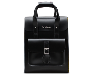 Small Leather Backpack BLACK AB020005