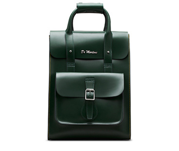 Small Leather Backpack GREEN AB020310