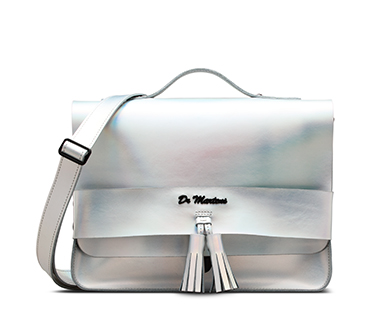 13 INCH ICED METALLIC LEATHER SATCHEL