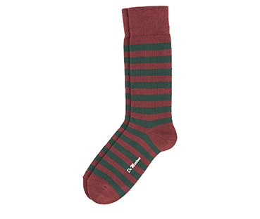 Thin Stripe Short Sock GREEN+RED AC226300