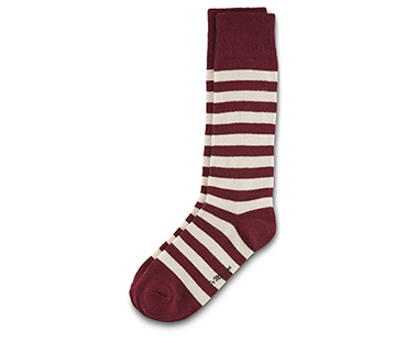 Thin Stripe Short Sock OXBLOOD+ECRU AC226900
