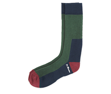 DOC'S SOCK GREEN+OXBLOOD+NAVY AC237005