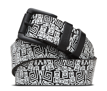 Buckle Belt WHITE URBAN AZTEC PRINT AC307004