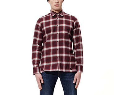 Men's LS Shadow Check Shirt OXBLOOD SHADOW CHECK AC459001