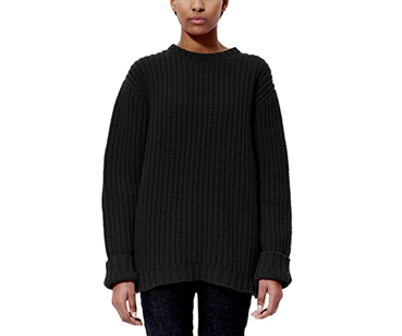 Unisex Heavy Knit Jumper BLACK AC476001