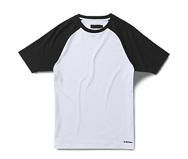 WHITE+BLACK RAGLAN PRINT