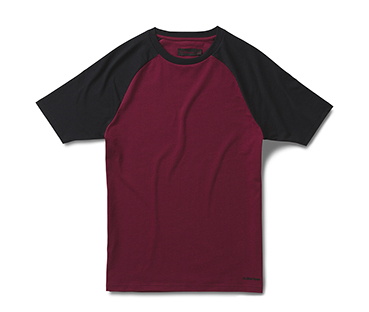 OXBLOOD & BLACK RAGLAN PRINT