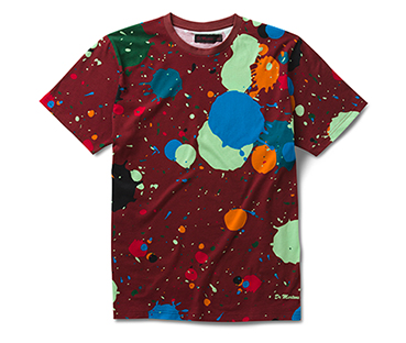 SPLATTER PRINT CHERRY RED
