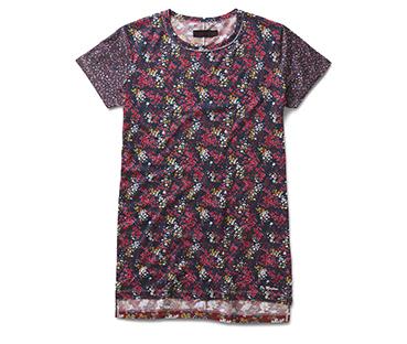 Floral Clash T-Shirt Dress