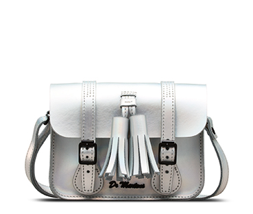 7 INCH ICED METALLIC LEATHER SATCHEL