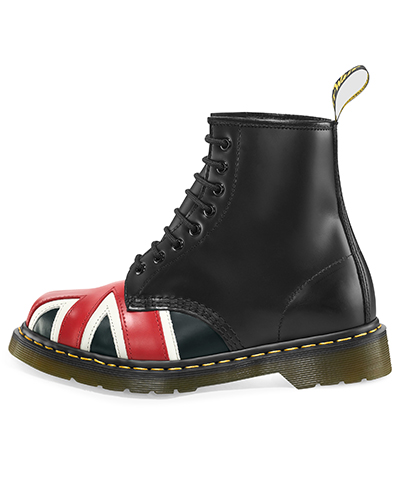 UNION JACK 8 EYE BOOT BLACK 10950001