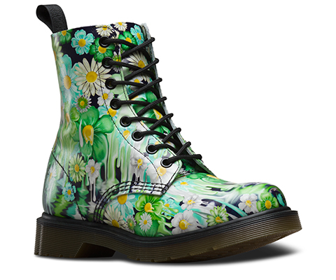 slime floral 1460 pascal official dr martens store uk. Black Bedroom Furniture Sets. Home Design Ideas
