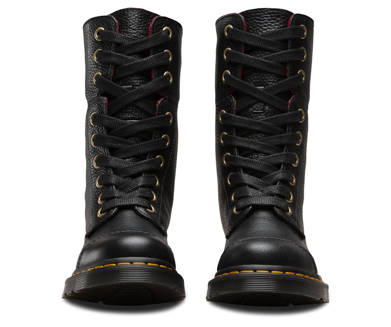 Women's Aimilita Black Aunt Sally Leather Fashion Boot