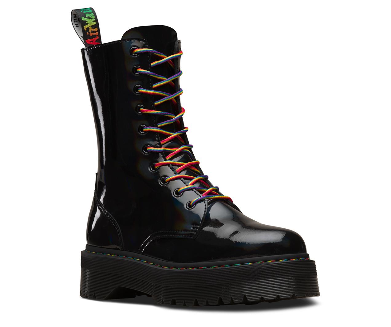 Jadon Hi Rainbow Patent Men S Boots The Official Us Dr