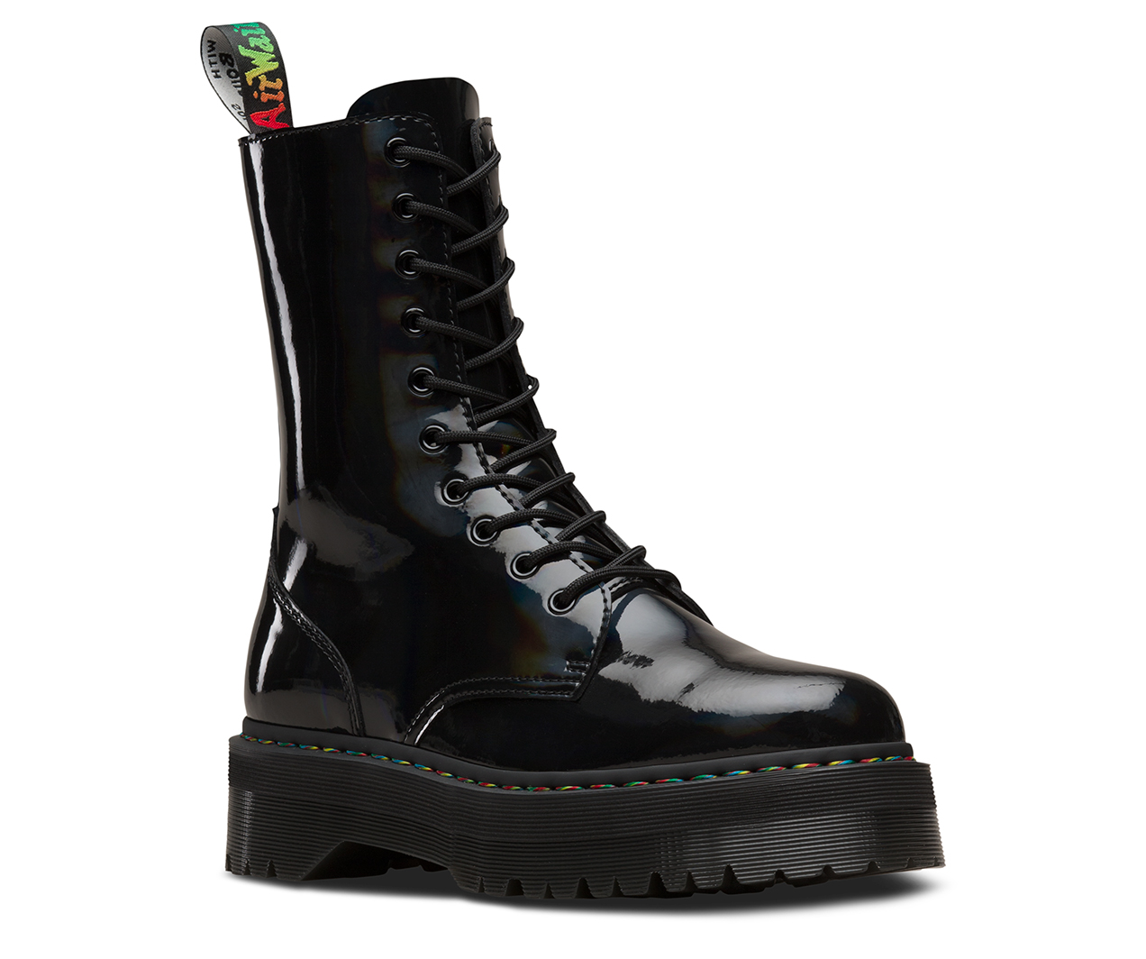 Jadon Hi Rainbow Patent Men S Boots The Official Us Dr