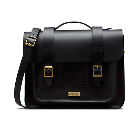 LEATHER SATCHEL BLACK AB002001
