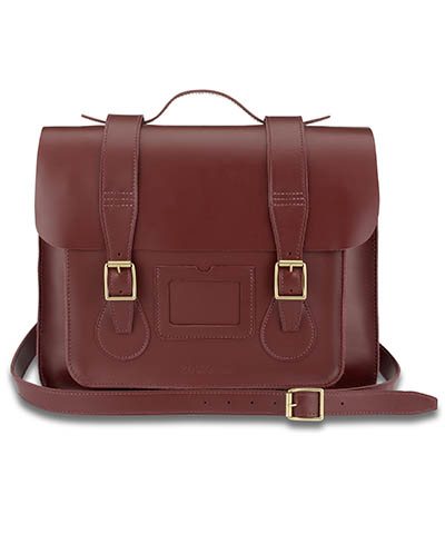 LEATHER SATCHEL CHERRY RED AB002600