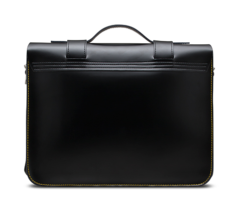 "15"" Leather satchel BLACK AB004014"