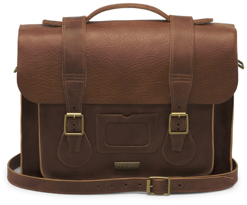 "15"" Leather satchel TAN AB004221"