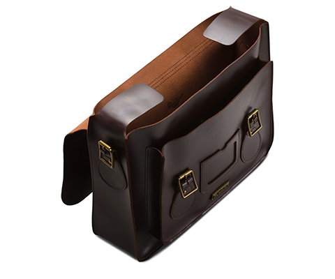 "15"" Leather satchel CHARRO AB004606"
